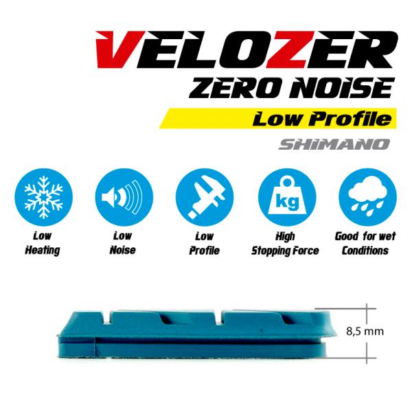 Juego de zapatas para carbono Zero Noise Low Profile